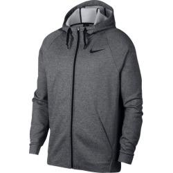 Nike Therma Full Zip Hoodie - Charcoal Heather / Black, Size One Size