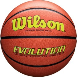 Wilson Evolution Game Ball - Orange / Optic Yellow