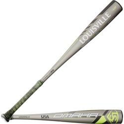 Louisville Slugger Omaha USA Baseball Bat - Silver / Lime, Size One Size