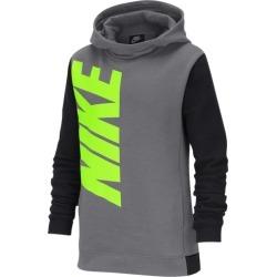 Nike NSW Core Amplify Pullover Hoodie - Gunsmoke / Black / Black / Volt, Size One Size