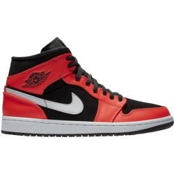 Jordan AJ 1 Mid Basketball Shoes - Black / Infrared 23 White found on MODAPINS from Eastbay Athletic SportSource for USD $110.00