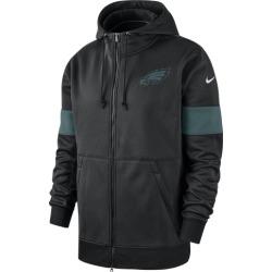 Nike NFL Therma Full-Zip Hoodie - Philadelphia Eagles - Black, Size One Size