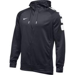 Nike Team Elite Stripe Full Zip Hoodie - Anthracite / White, Size One Size