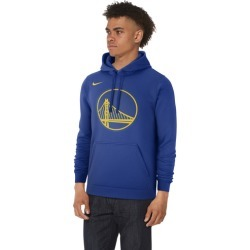 Nike NBA Club Fleece Pullover Hoodie - Golden State Warriors - Rush Blue, Size One Size