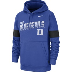 Nike College Therma Pullover Hoodie - Duke Blue Devils - Game Royal, Size One Size