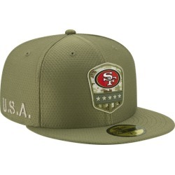 New Era NFL 59Fifty Salute to Service Cap - San Francisco 49ers - Medium Olive, Size One Size