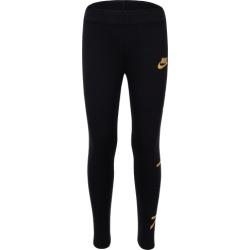 Nike NSW Air Leggings - Black / Metallic Gold, Size One Size