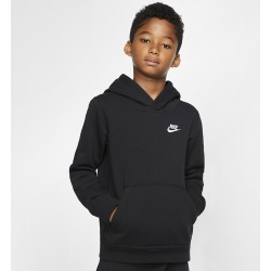Nike Club Pullover Hoodie - Black / White, Size One Size