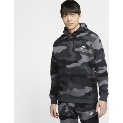 Nike Camo Club Hoodie - Dark Grey / Anthracite / Summit White, Size One Size