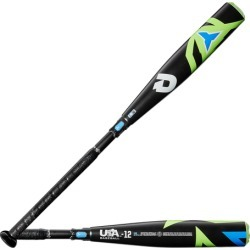 DeMarini Sabotage USA Baseball Bat - Black / Lime, Size One Size