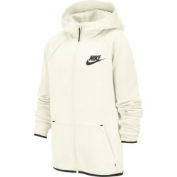 Nike Tech Fleece Full-Zip Hoodie - Sail / Heather / Black, Size One Size