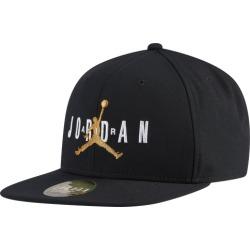 Jordan Jumpman Air Pro Snapback Cap - Black / White / Metallic Gold, Size One Size