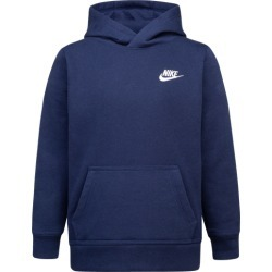 Nike Club Fleece Pullover Hoodie - Midnight Navy / White, Size One Size