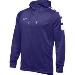 Nike Team Elite Stripe Full Zip Hoodie - Purple / White, Size One Size