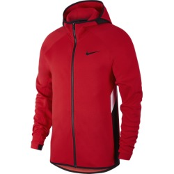 Nike Showtime Full-Zip Hoodie - University Red / White / Black, Size One Size