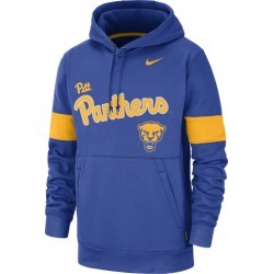 Nike College Therma Pullover Hoodie - Pittsburgh Panthers - Game Royal, Size One Size