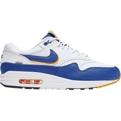 Nike Air Max 1 Running Shoes - White/Blue/Gold found on MODAPINS from Footlocker CA for USD $133.29
