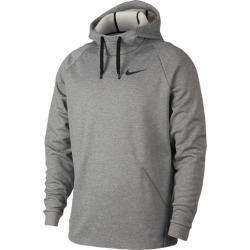 Nike Therma Fleece Hoodie - Dark Grey Heather / Black, Size One Size