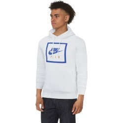 Nike Air Box Pullover Hoodie - White / Game Royal, Size One Size