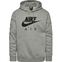 Nike JDI Fleece Hoodie - Dark Grey Heather / White, Size One Size