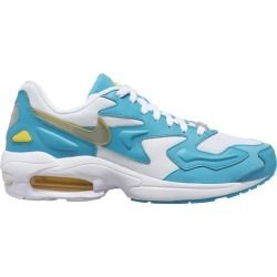 Nike Air Max 2 Light Running Shoes - White/Dynamic Yellow/Teal Nebula