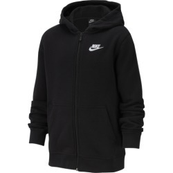 Nike NSW Full-Zip Club Hoodie - Black / Black / White, Size One Size
