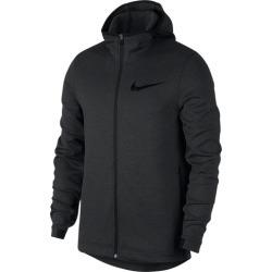Nike Thermaflex Showtime Full-Zip Hoodie - Black Heather / Black, Size One Size