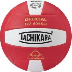 Tachikara SV-5WSC Volleyball - Scarlet / White