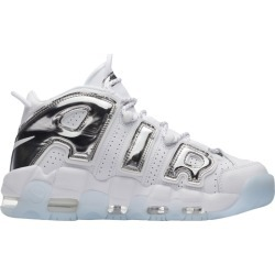 Womens Nike Air More Uptempo - White/Chrome/Blue Tint