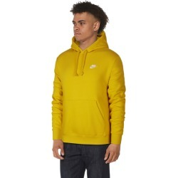 Nike Club Pullover Hoodie - Dark Sulfur / White, Size One Size
