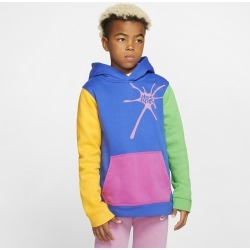 Nike Bubble Gum Pullover Hoodie - Game Royal / Light Green, Size One Size