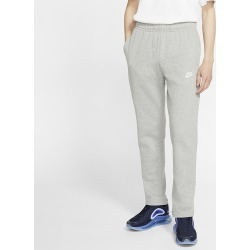 Nike Open Hem Club Pants - Dark Grey Heather / White, Size One Size