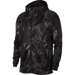 Nike Spotlight Marbled Full-Zip Hoodie - Black / Black, Size One Size