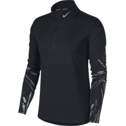 Nike Element Flash Half-Zip GX Top - Black, Size One Size