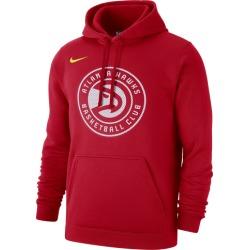 Nike NBA Club Fleece Pullover Hoodie - Atlanta Hawks - University Red, Size One Size