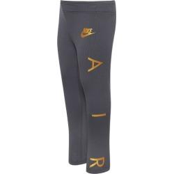 Nike NSW Air Leggings - Dark Grey / Metallic Gold, Size One Size