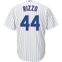 Majestic MLB Cool Base Player Basketball Jersey - Chicago Cubs - White - Rizzo, Anthony
