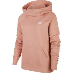 Nike Essential Funnel Neck P/O Hoodie - Pink Quartz / White, Size One Size