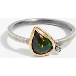 Black Opal Diamond Ring by Facets of Earth at Free People