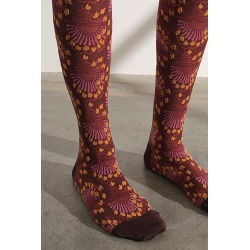 Anna Sui Deco Dawn Knee High Socks by Anna Sui at Free People, Espresso, One Size found on MODAPINS from Free People for USD $48.00