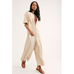 Current Obsession Jumpsuit by Endless Summer at Free People, Soothing Sand, S found on MODAPINS from Free People for USD $98.00