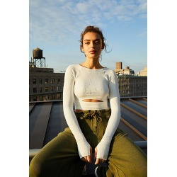 Cut It Out Long Sleeved Active Top by FP Movement at Free People