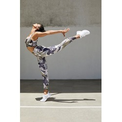 high-Rise 7/8 Wave Crush Legging by FP Movement at Free People, Black Combo, S