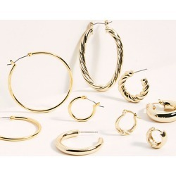 Gold Plated Hoop Earring Set by Free People