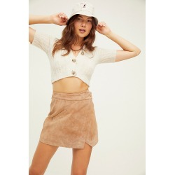 Suede Wrap Mini Skirt by Blank NYC at Free People, Act Natural, 27 found on MODAPINS from Free People for USD $98.00