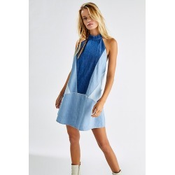 Rising Sun Mini Dress by Free People, Moody Blue Combo, S found on MODAPINS from Free People for USD $148.00