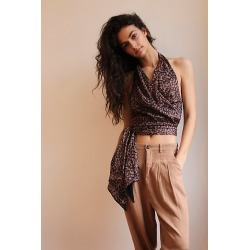 2 Way Street Halter Top by Free People, Rust Combo, L