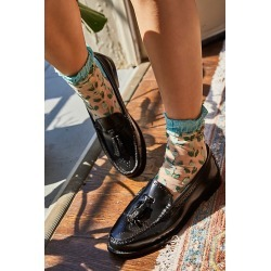 Anna Sui Blooming Buds Socks by Anna Sui at Free People, Jade Multi, One Size found on MODAPINS from Free People for USD $38.00