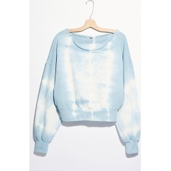 Washed Jojo Pullover by Free People, Sky Blue, XL