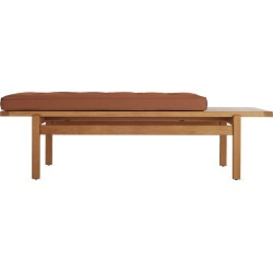 Jens Bench, Tan Leather by Design Within Reach found on Bargain Bro India from Design Within Reach for $1895.00